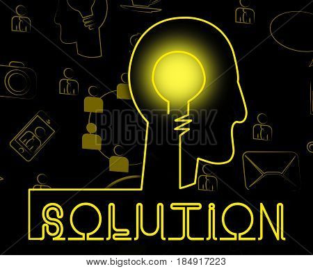 Solution Brain Represent Solving Successful And Resolution