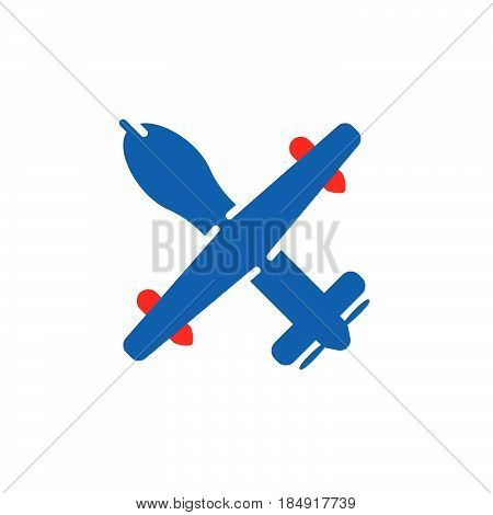Unmanned aerial vehicle military drone icon vector filled flat sign solid colorful pictogram isolated on white. Symbol logo illustration