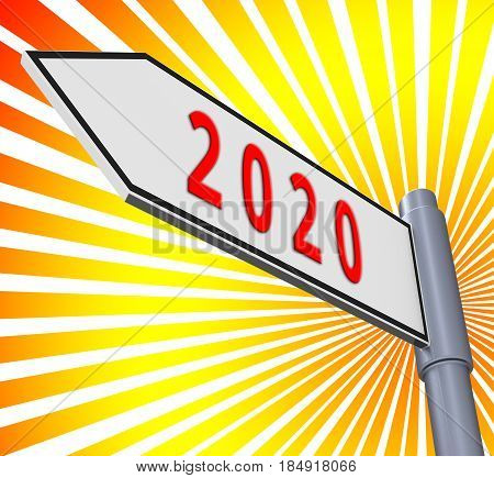 Two Thosand Twenty Meaning 2020 3D Illustration