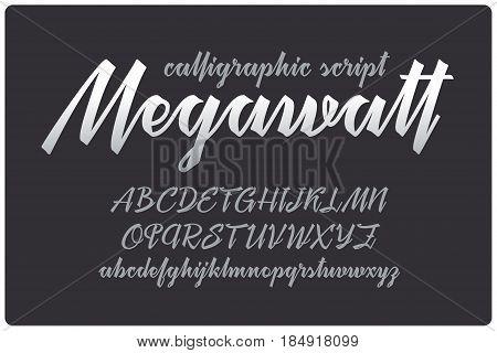 Calligraphic handwritten font named