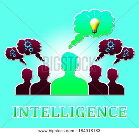 Intelligence Light Represents Intellectual Capacity 3D Illustration