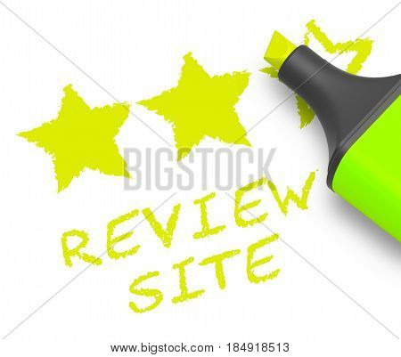 Review Site Means Website Performance 3D Illustration