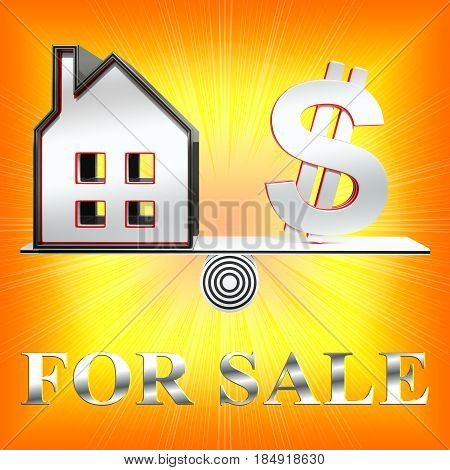 Houses For Sale Means Sell House 3D Rendering