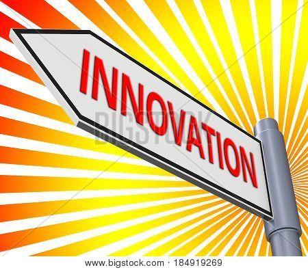 Innovation Sign Meaning Reorganization Transformation 3D Illustration