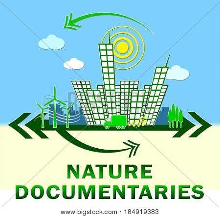 Nature Documentary Showing Environment Video 3D Illustration