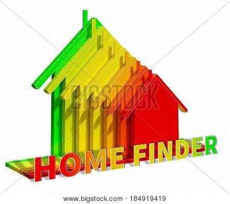 Home Finder Means Housing Residence 3D Illustration