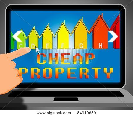 Cheap Property Representing Real Estate 3D Illustration