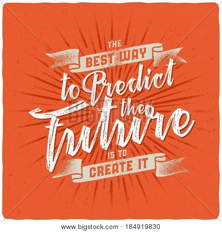 Handmade textured lettering composition with motivation quote