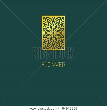 Abstract Flower Logo Icon Design. Elegant Flower Symbol. Template For Creating Unique Luxury Design,