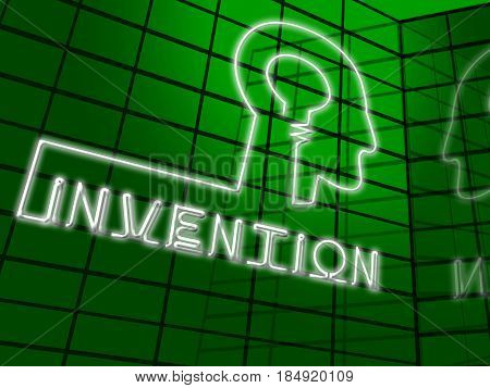 Invention Brain Meaning Innovating Invents And Innovating 3d Illustration poster
