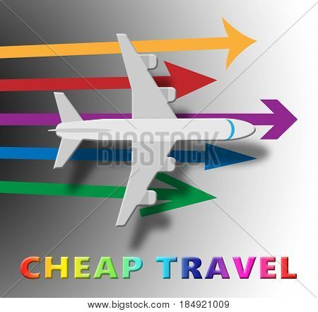 Cheap Travel Representing Low Cost 3D Illustration