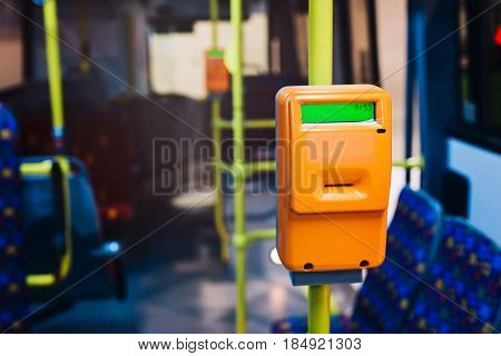 Modern Ticket Validator In City Bus