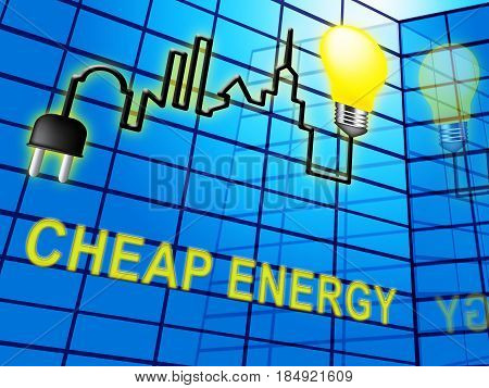 Cheao Energy Means Discount Power 3D Illustration