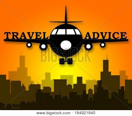 Travel Advice Means Guidance Getaway 3D Illustration