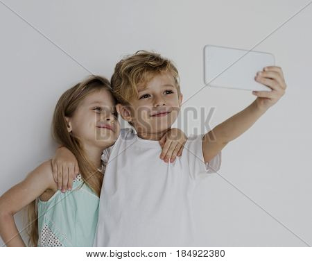 Couple Kids Friend Togetherness Protrait