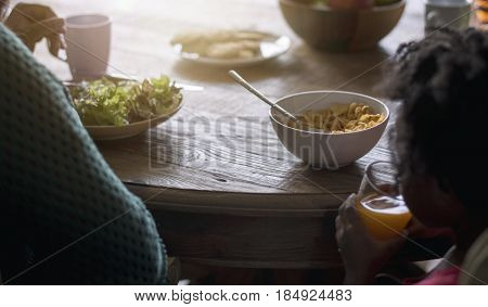 African Descent Family House Home Resting Living