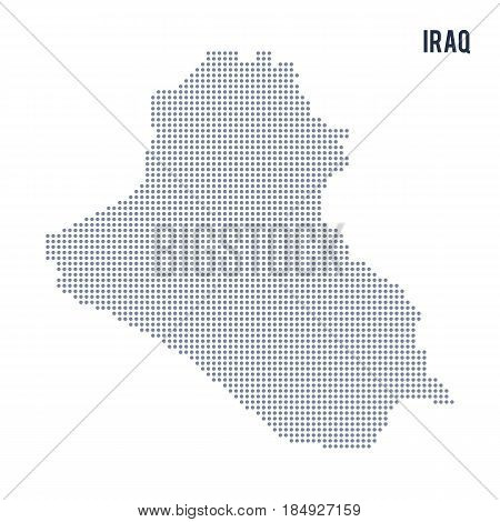 Vector Dotted Map Of Iraq Isolated On White Background .
