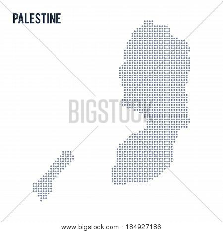Vector Dotted Map Of Palestine Isolated On White Background .