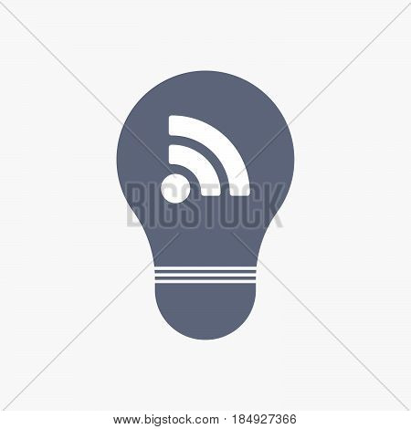 Isolated Light Bulb Icon With An Rss Sign