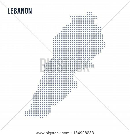 Vector Pixel Map Of Lebanon Isolated On White Background
