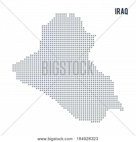 Vector Pixel Map Of Iraq Isolated On White Background