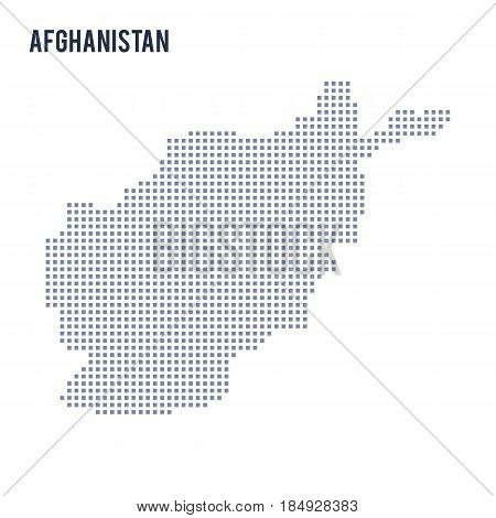 Vector Pixel Map Of Afghanistan Isolated On White Background