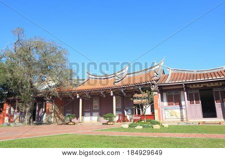 Historical architecture of Confucian temple in Tainan Taiwan