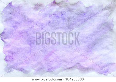Colorful Blue Violet Pink Watercolor Background For Wallpaper. Aquarelle Bright Color Illustration