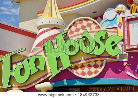 August 20, 2016 Fun House Sign located on Point Pleasant Beach's boardwalk in Point Pleasant New Jersey