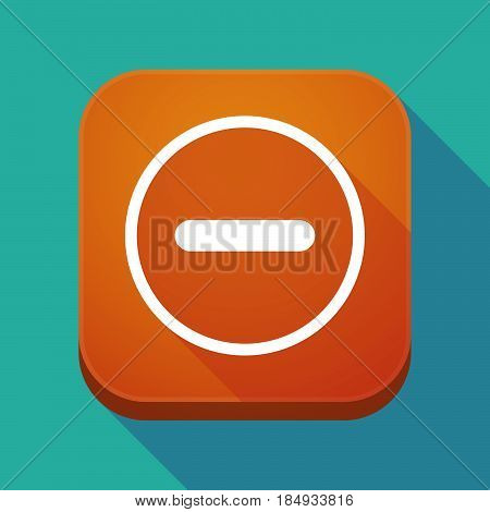 Long Shadow App Icon With A Subtraction Sign