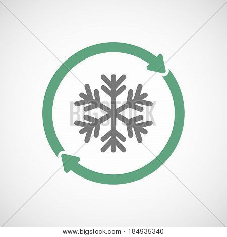 Isolated Reuse Icon With A Snow Flake