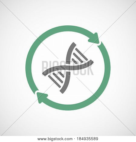 Isolated Reuse Icon With A Dna Sign