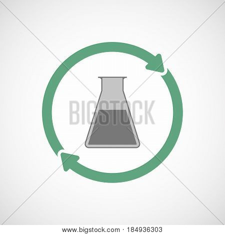 Isolated Reuse Icon With A Flask