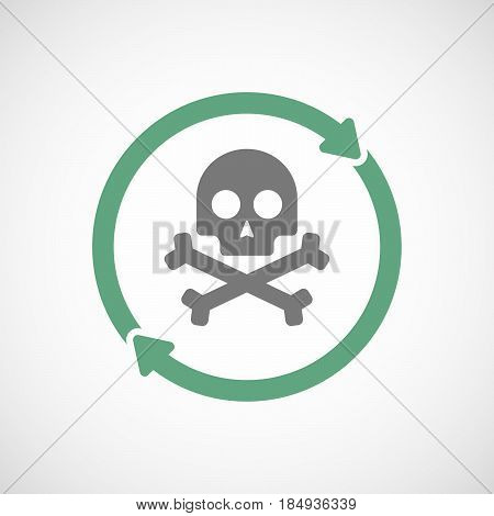Isolated Reuse Icon With A Skull