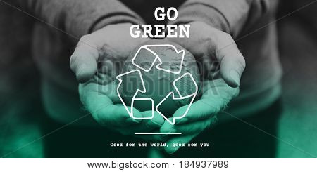 Recycle icon eco friendly green
