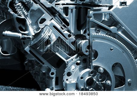 Part of a car engine.