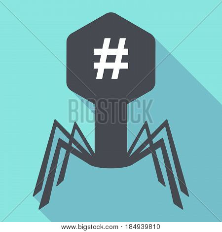 Long Shadow Virus With A Hash Tag
