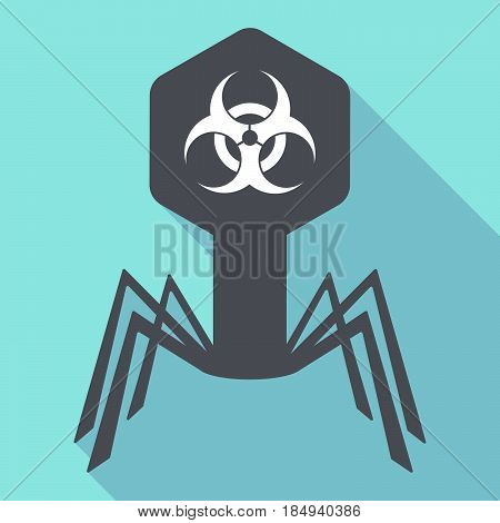 Long Shadow Virus With A Biohazard Sign