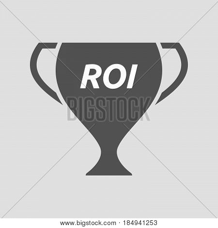 Isolated Cup With    The Return Of Investment Acronym Roi