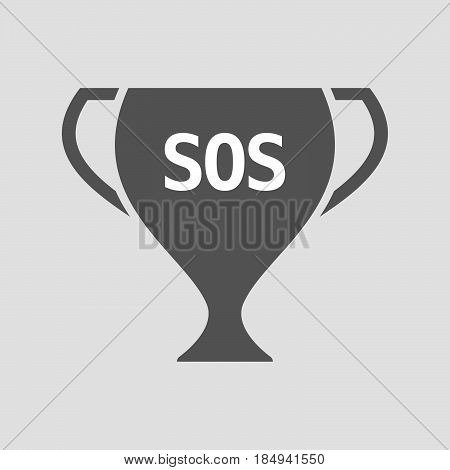 Isolated Cup With    The Text Sos