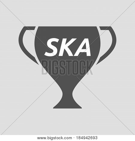 Isolated Cup With    The Text Ska