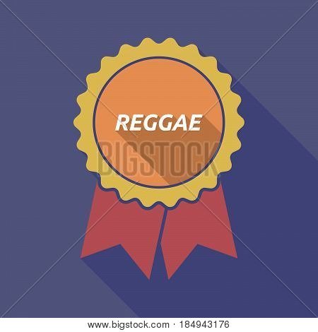 Long Shadow Badge With    The Text Reggae