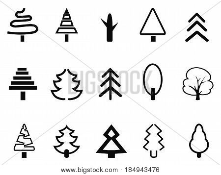 isolated simple tree icon on white background