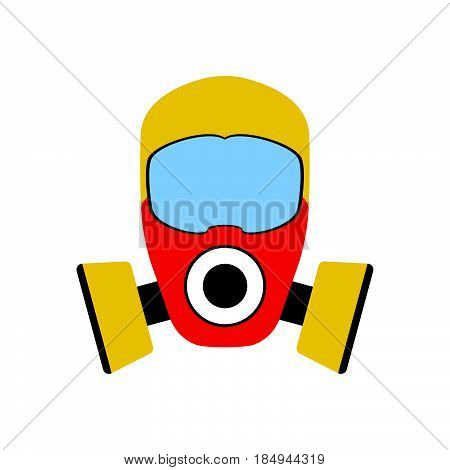 Gas Mask Icon. Fire Departament Equipment Icons. Vector Illustration.