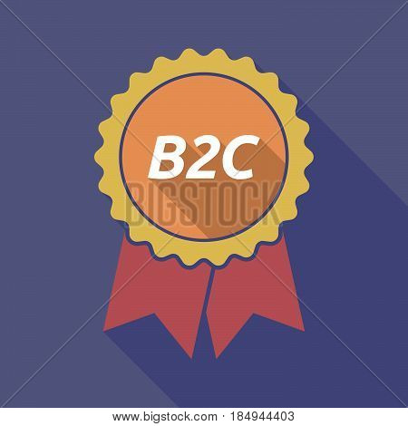 Long Shadow Badge With    The Text B2C
