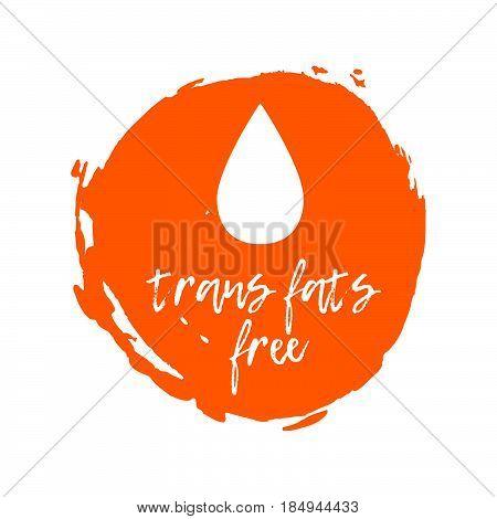 Trans Fats Free Label. Food Intolerance Symbols. Vector Illustration
