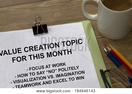 Value Creation Topic
