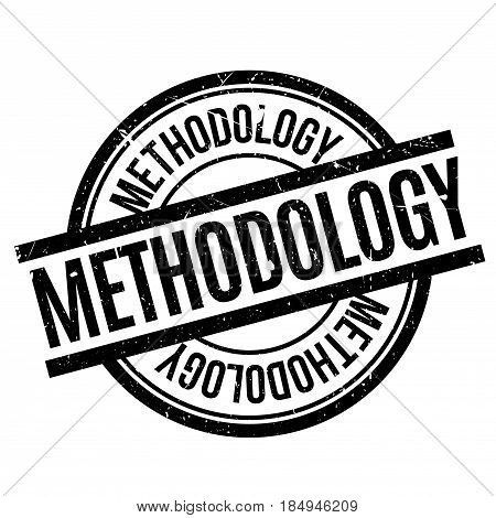 Methodology rubber stamp. Grunge design with dust scratches. Effects can be easily removed for a clean, crisp look. Color is easily changed.