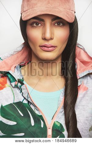 Woman With Long Hair In Jacket