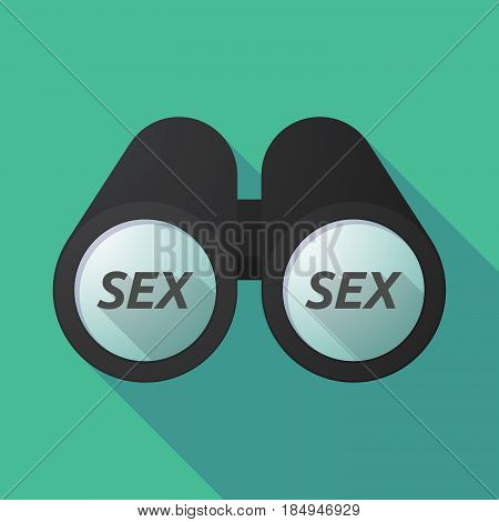 Long Shadow Binoculars With    The Text Sex